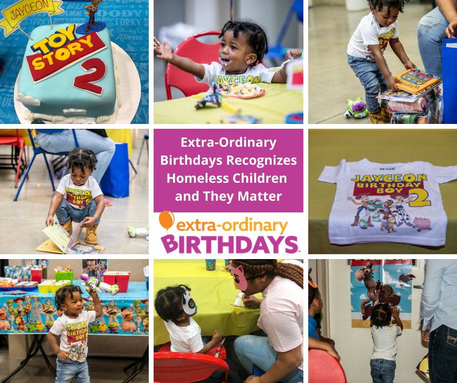 Extra-Ordinary Birthdays Recognizes Homeless Children and They Matte